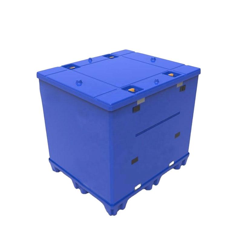 Polipropileno PP plástico pallet manga coaming contenedores a granel de alta resistencia plegable