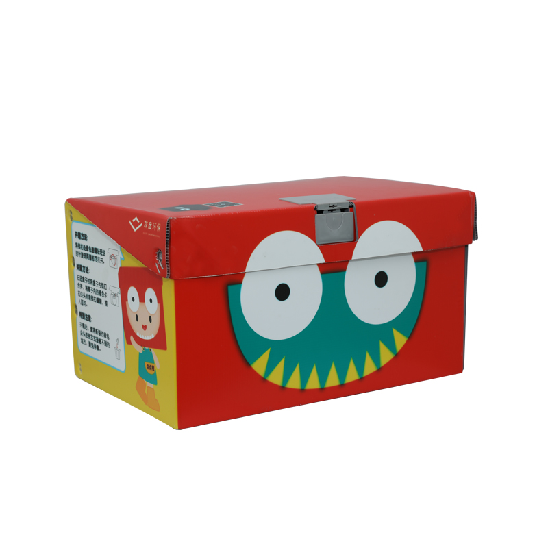 Contenedores de cajas de juguetes de plástico corrugado para verduras tamaño personalizado diseño de color para embalaje o circulación