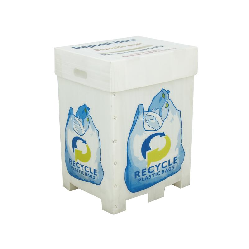 Contenedores de plástico corrugado recicladores personalizados en impresión de color del tamaño requerido con o sin tapa